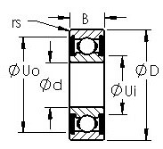 AST R16-2RS Rolamentos de esferas profundas