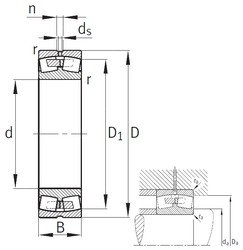 400 mm x 650 mm x 200 mm  FAG 23180-B-MB Rolamentos esféricos de rolamentos