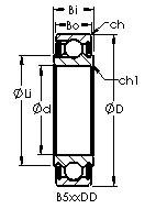 AST B540DD Rolamentos de esferas profundas