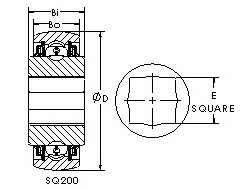 AST SQ208-102X Rolamentos de esferas profundas