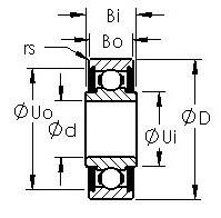AST SRW2-5-TT Rolamentos de esferas profundas