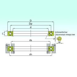 400 mm x 510 mm x 40 mm  ISB RB 40040 Rolamentos de rolos