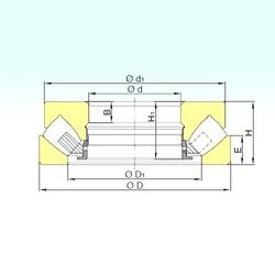 630 mm x 1090 mm x 107 mm  ISB 294/630 M Rolamentos de rolos