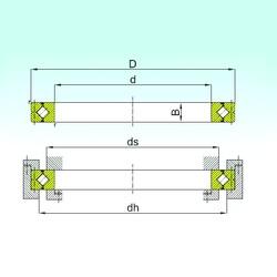 600 mm x 780 mm x 70 mm  ISB CRB 60070 Rolamentos de rolos