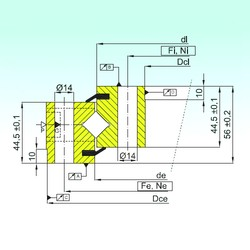 ISB NR1.14.0944.201-3PPN Rolamentos de rolos