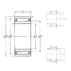 30 mm x 45 mm x 13 mm  NTN NAO-30×45×13 Rolamentos de agulha