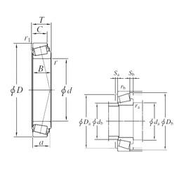 150 mm x 225 mm x 48 mm  KOYO 32030JR Rolamentos de rolos gravados