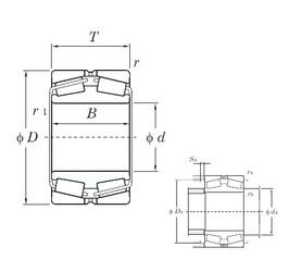 360 mm x 540 mm x 134 mm  KOYO 45272 Rolamentos de rolos gravados