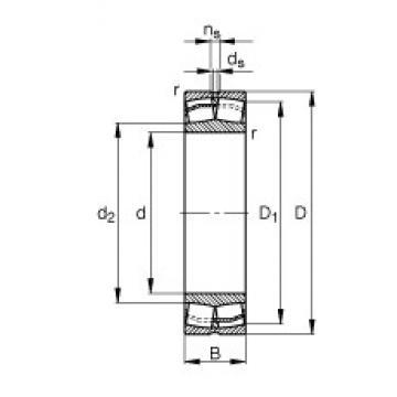 180 mm x 380 mm x 126 mm  FAG 22336-E1-JPA-T41A Rolamentos esféricos de rolamentos