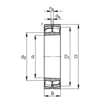 220 mm x 460 mm x 145 mm  FAG 22344-E1-K-JPA-T41A Rolamentos esféricos de rolamentos