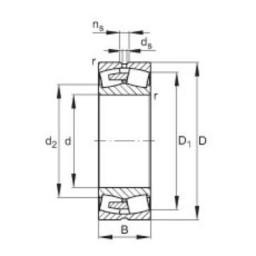 360 mm x 540 mm x 180 mm  FAG 24072-E1A-MB1 Rolamentos esféricos de rolamentos