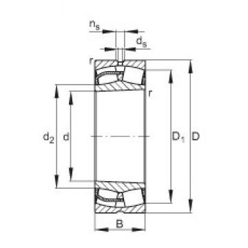 160 mm x 240 mm x 80 mm  FAG 24032-E1-K30 Rolamentos esféricos de rolamentos