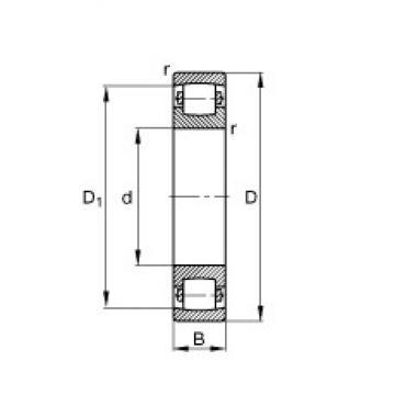 105 mm x 190 mm x 36 mm  FAG 20221-MB Rolamentos esféricos de rolamentos