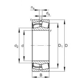 300 mm x 460 mm x 118 mm  FAG 23060-E1 Rolamentos esféricos de rolamentos