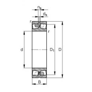 340 mm x 580 mm x 190 mm  FAG 23168-B-MB Rolamentos esféricos de rolamentos