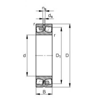 800 mm x 1060 mm x 258 mm  FAG 249/800-B-MB Rolamentos esféricos de rolamentos