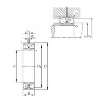 500 mm x 830 mm x 325 mm  FAG 241/500-E1A-MB1 Rolamentos esféricos de rolamentos