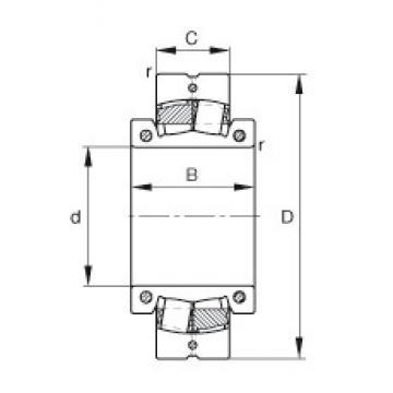 300 mm x 580 mm x 212 mm  FAG 222SM300-MA Rolamentos esféricos de rolamentos