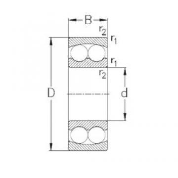 105 mm x 190 mm x 36 mm  NKE 1221 Rolamentos de esferas auto-alinhados