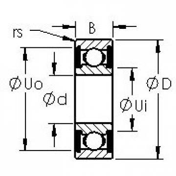 AST 602H-TT Rolamentos de esferas profundas