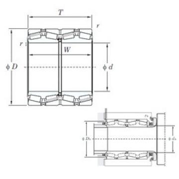 KOYO 47228 Rolamentos de rolos gravados