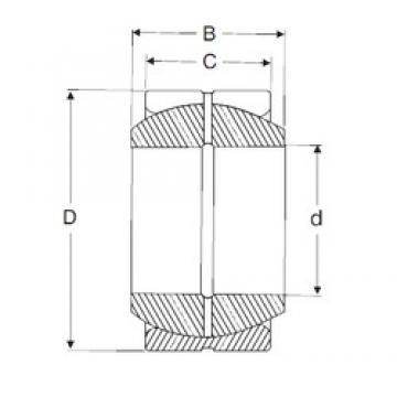 110 mm x 160 mm x 70 mm  SIGMA GE 110 ES Rolamentos simples