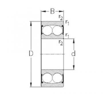 15 mm x 35 mm x 14 mm  NKE 2202-2RS Rolamentos de esferas auto-alinhados