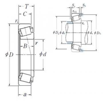 908 mm x 1060 mm x 90 mm  NSK R908-1 Rolamentos cilíndricos