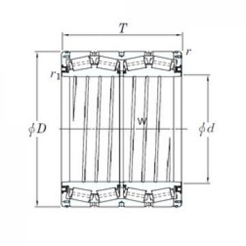 KOYO 4TRS559C Rolamentos de rolos gravados