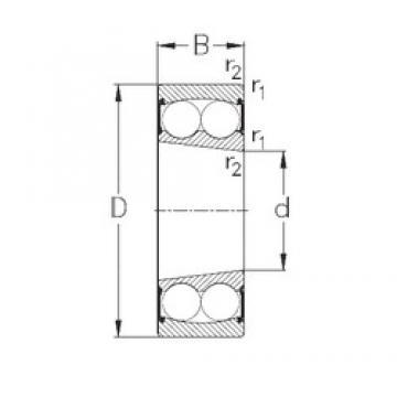 25 mm x 52 mm x 18 mm  NKE 2205-K-2RS Rolamentos de esferas auto-alinhados