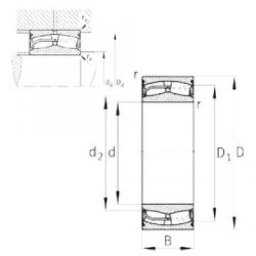 180 mm x 300 mm x 118 mm  FAG 24136-E1-2VSR-H40 Rolamentos esféricos de rolamentos
