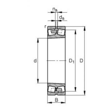 950 mm x 1500 mm x 545 mm  FAG 241/950-B-K30-MB Rolamentos esféricos de rolamentos
