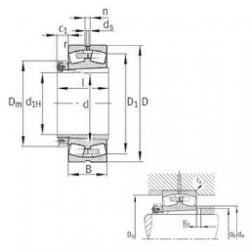 280 mm x 460 mm x 146 mm  FAG 23156-B-K-MB Rolamentos esféricos de rolamentos