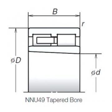 130 mm x 180 mm x 50 mm  NSK NNU4926MBKR Rolamentos cilíndricos