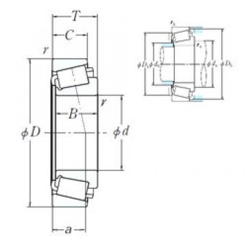 385,762 mm x 514,35 mm x 82,55 mm  NSK LM665949/LM665910 Rolamentos cilíndricos