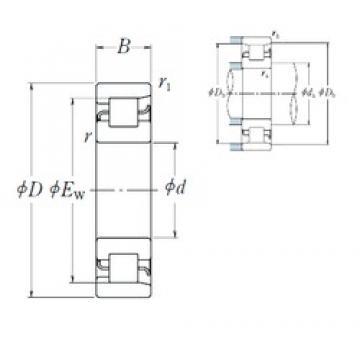 180 mm x 320 mm x 52 mm  NSK NF 236 Rolamentos cilíndricos
