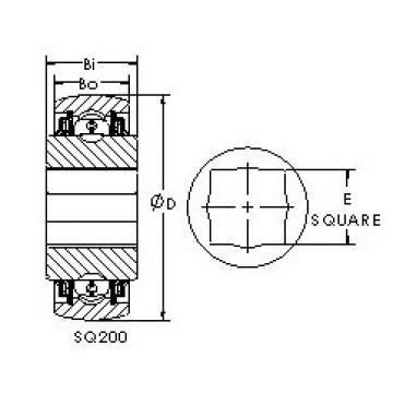 AST SQ208-100X Rolamentos de esferas profundas