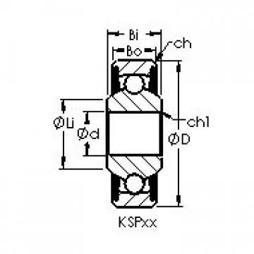 AST KSP4A Rolamentos de esferas profundas