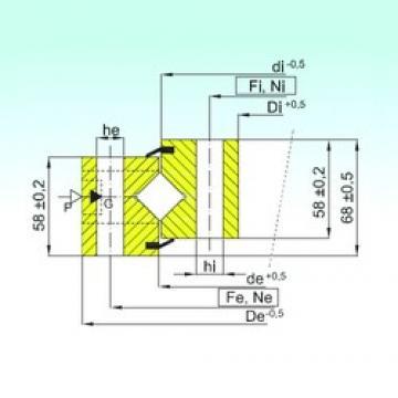 ISB NR1.16.1424.400-1PPN Rolamentos de rolos