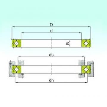 400 mm x 510 mm x 40 mm  ISB CRBC 40040 Rolamentos de rolos