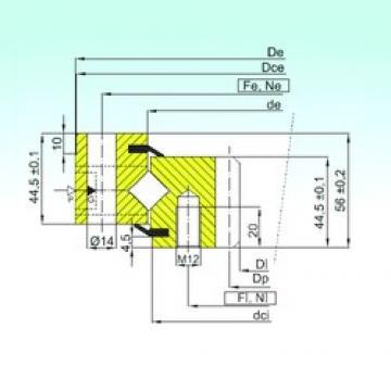 ISB ZR1.14.0744.200-1SPTN Rolamentos de rolos