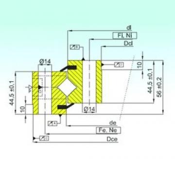 ISB NR1.14.0844.201-3PPN Rolamentos de rolos