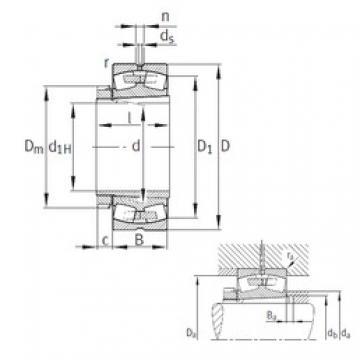 200 mm x 360 mm x 128 mm  FAG 23240-B-K-MB Rolamentos esféricos de rolamentos