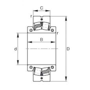 100 mm x 200 mm x 92 mm  FAG 222SM100-TVPA Rolamentos esféricos de rolamentos