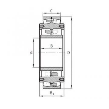 220 mm x 560 mm x 195 mm  FAG Z-531156.04.DRGL Rolamentos esféricos de rolamentos