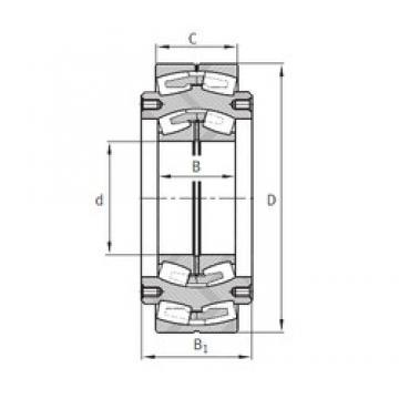 420 mm x 1 090 mm x 335 mm  FAG Z-531796.04.DRGL Rolamentos esféricos de rolamentos