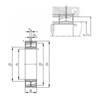 420 mm x 700 mm x 280 mm  FAG 24184-E1 Rolamentos esféricos de rolamentos