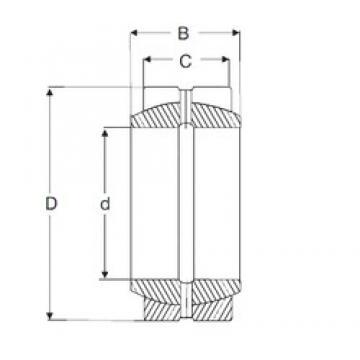 19.05 mm x 31,75 mm x 16,662 mm  SIGMA GEZ 012 ES Rolamentos simples