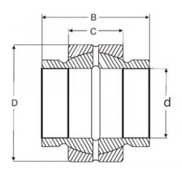38,1 mm x 61,925 mm x 57,15 mm  SIGMA GEZM 108 ES Rolamentos simples