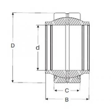 125 mm x 180 mm x 125 mm  SIGMA GEG 125 ES Rolamentos simples